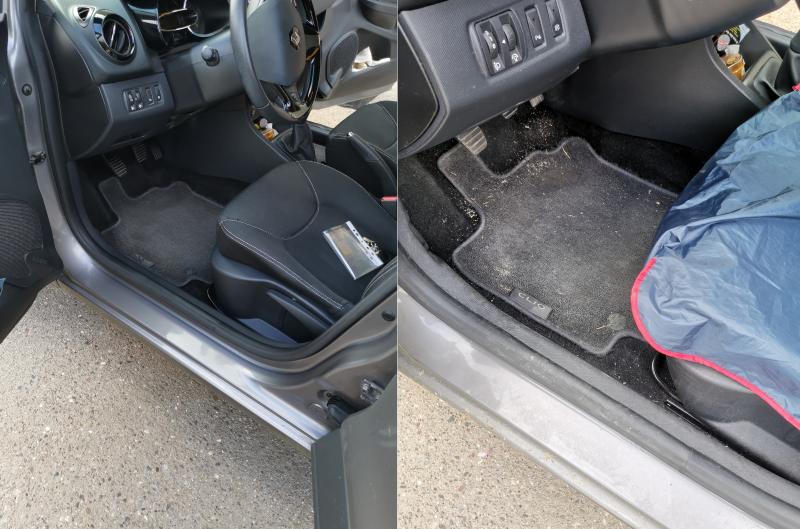 Nettoyage intérieur sur une Renault Clio IV